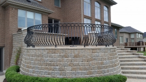 Custom Deck Railings Birmingham MI - San Marino Iron Works - 20140716_194222