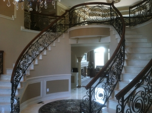 Custom Pipe Railing Canton MI - San Marino Iron Works - 010