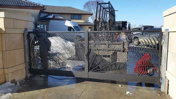 Custom Wrought Iron Gates Rochester Hills MI - San Marino Iron Works - 20150311_103038