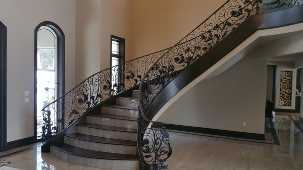 Custom Stair Railings Detroit MI   San Marino Iron Works   20160212_092658