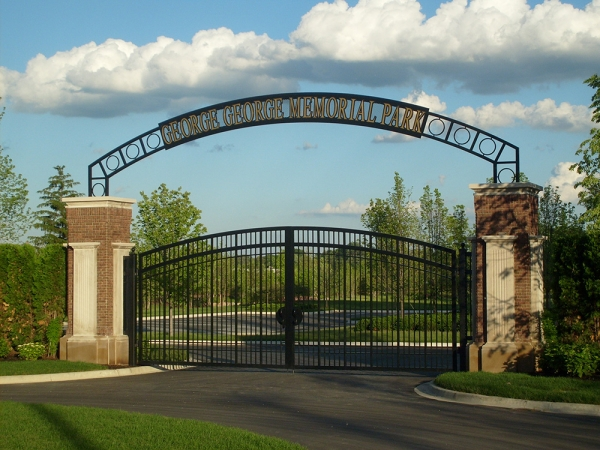 Wrought Iron Gates Plymouth MI - San Marino Iron Works - S6300203